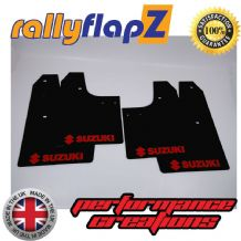 SWIFT 2ND GEN (2008-2010) BLACK MUDFLAPS (Logo Red)